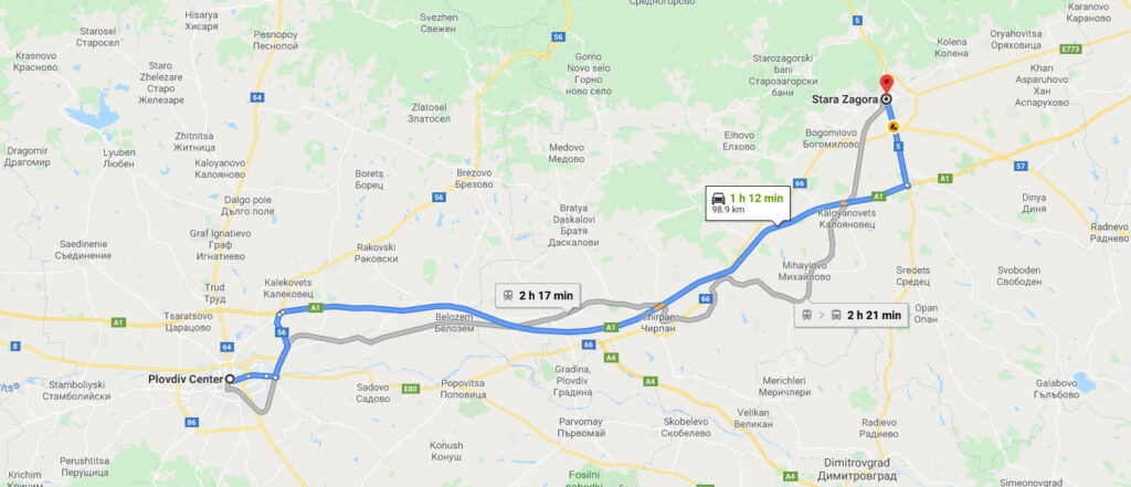 From Stara Zagora to Plovdiv
